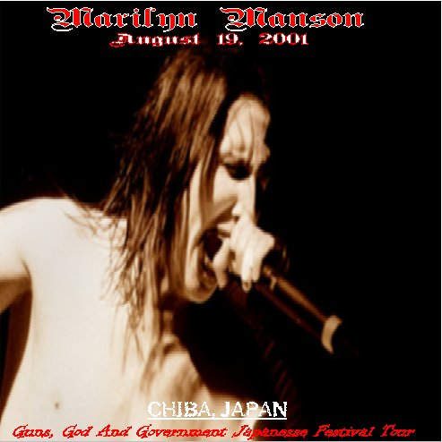 August 19, 2001 - Chiba, Japan - Guns, God and Government Japanese Festival Tour cover