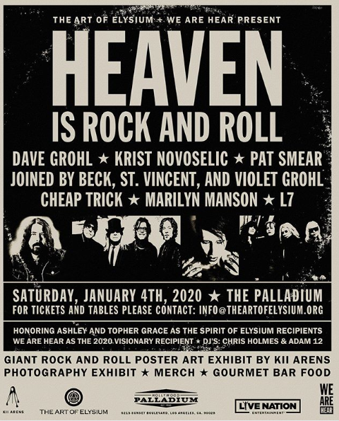 January 4, 2020 performance at Heaven Is Rock and Roll gala, The Palladium, Los Angeles, California, USA.