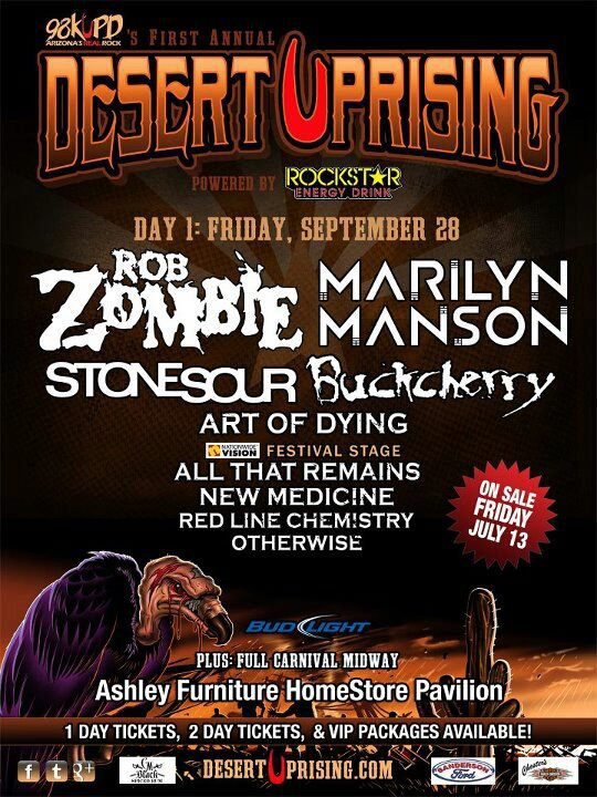 September 28, 2012 performance at Desert Uprising Festival, Ashley Furniture Homestore Pavilion, Phoenix, Arizona.
