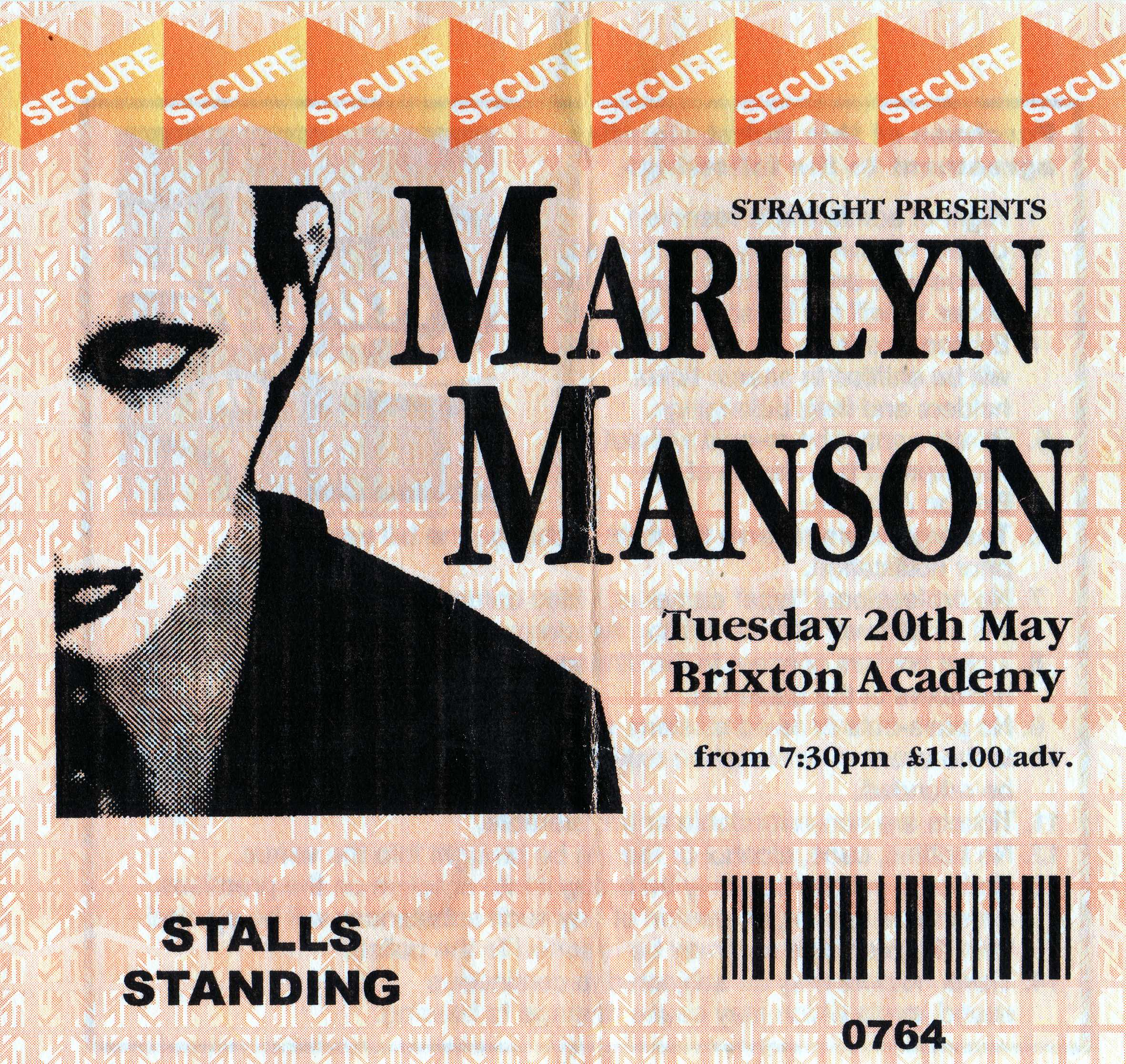 May 20, 1997 performance at Brixton Academy in London, United Kingdom.