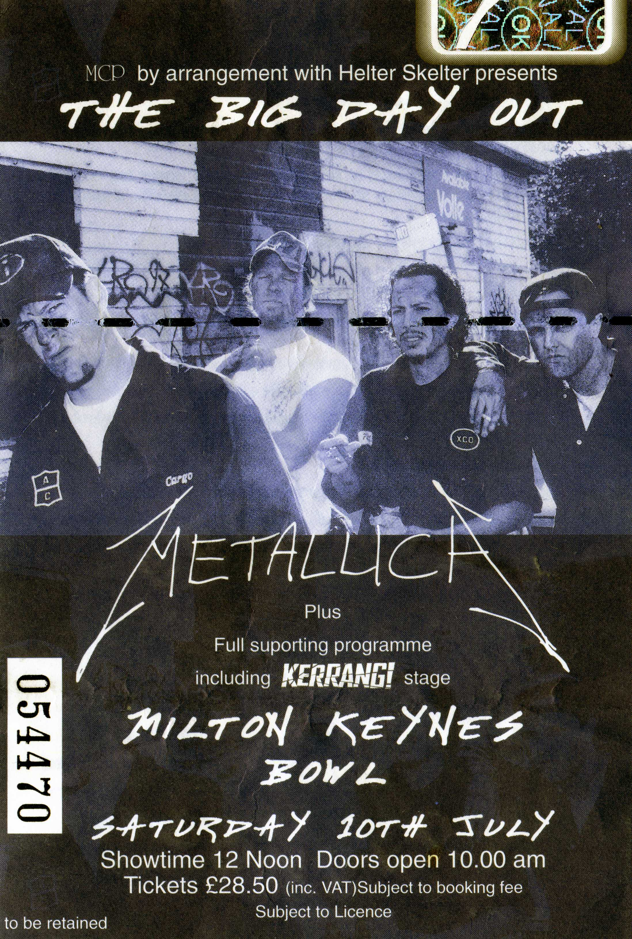 July 10, 1999 performance at The Milton Keynes Bowl in Milton Keynes, England.