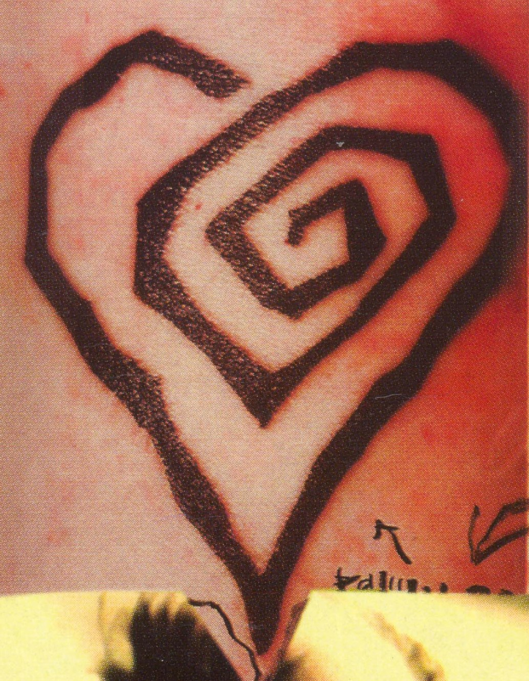 Spiral Heart tattoo