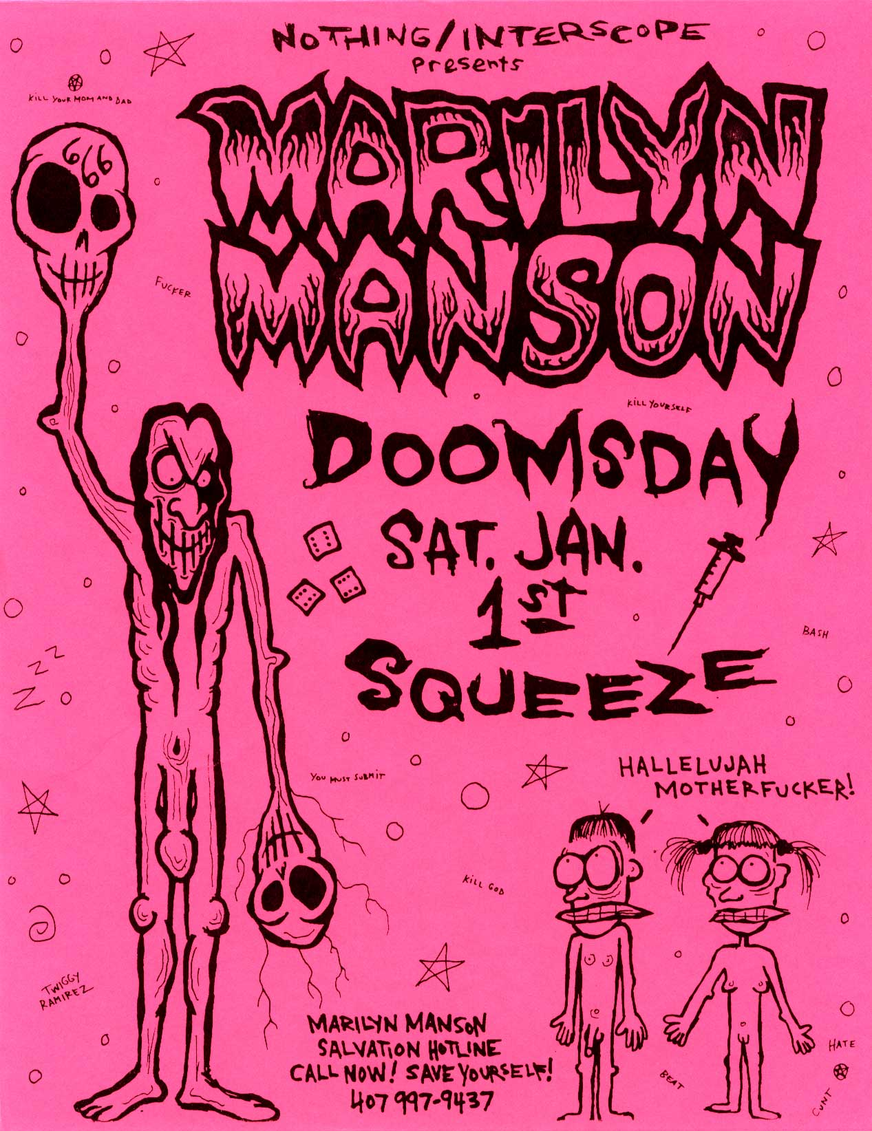 January 1, 1994 performance at Squeeze in Fort Lauderdale, Florida, USA.