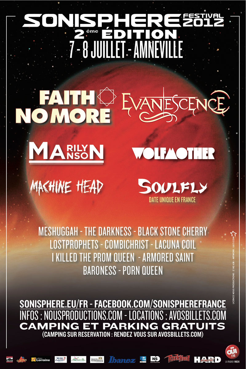 July 7 2012 performance at Sonisphere Festival in Amneville, France.