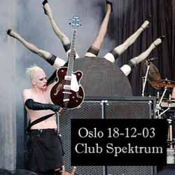 Oslo 18-12-03 Club Spektrum cover
