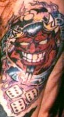 The Lucky Devil tattoo