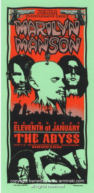 January 11, 1995 performance at Abyss in Houston, Texas, USA.
