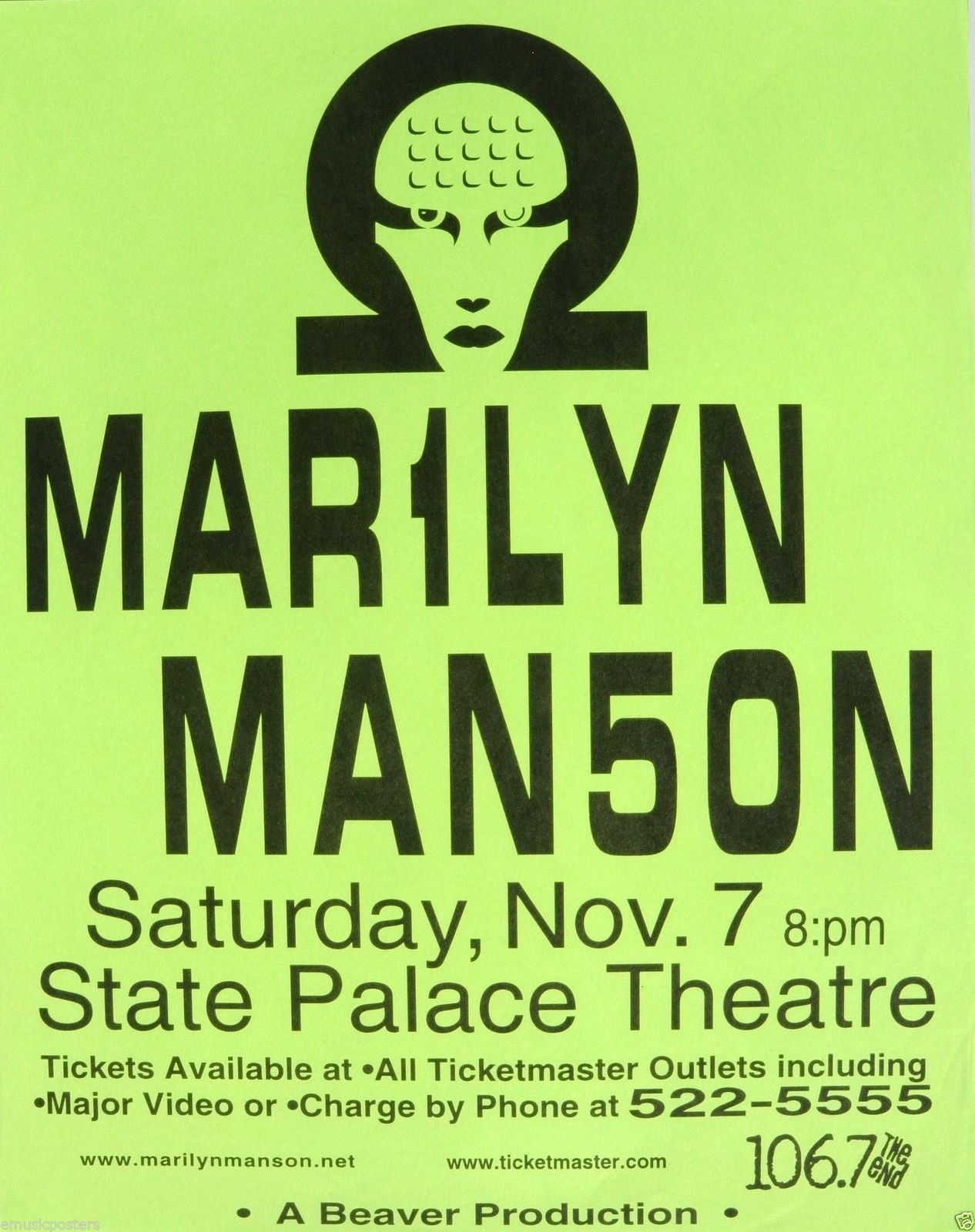 November 7, 1998 performance at State Palace Theatre in New Orleans, Louisiana, USA.